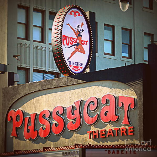 Wall Art - Photograph - Pussycat Theatre by Tru Waters