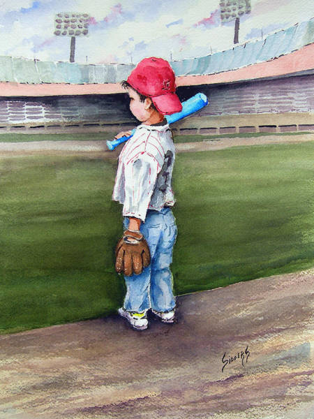 Bat Painting - Put Me In Coach  by Sam Sidders