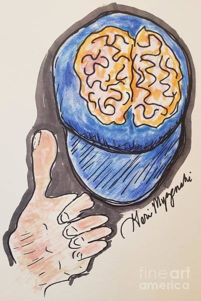 Cell Phone Cases Mixed Media - Put On Your Thinking Cap  by Geraldine Myszenski