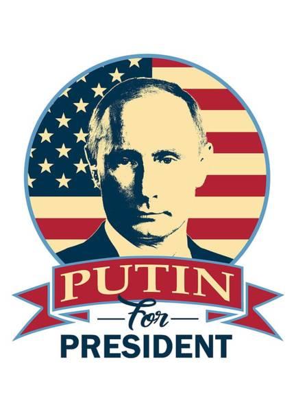 Trump Digital Art - Putin For President American Banner Pop Art by Filip Hellman