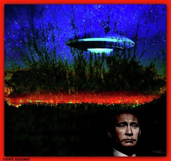 Midterm Wall Art - Digital Art - Putin's Ufo And The Usa Midterm Elections by Tony Adamo