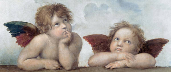 Sistine Wall Art - Painting - Putti, Detail From The Sistine Madonna by Raphael Sanzio