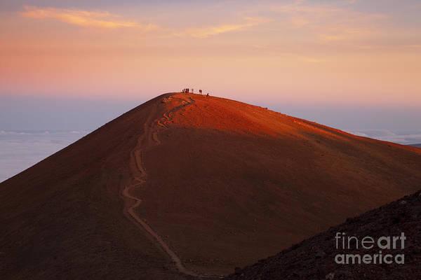 Photograph - Pu'u Wekiu At Sunset by Charmian Vistaunet