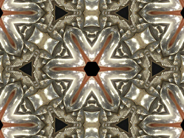 Puzzle In Taupes Art Print