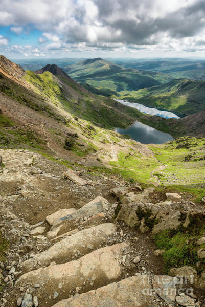 Snowdonia Wall Art - Photograph - Pyg Track To Glaslyn Lake by Adrian Evans