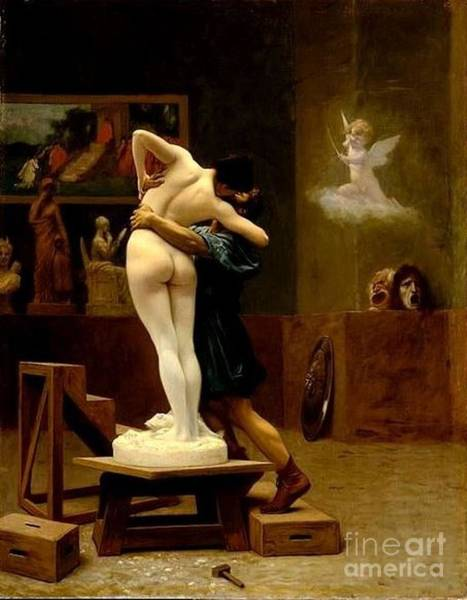 0 Painting - Pygmalion And Galatea by Reproduction