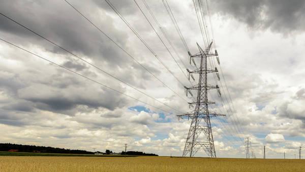 Photograph - Pylon In Farmland by Jacek Wojnarowski