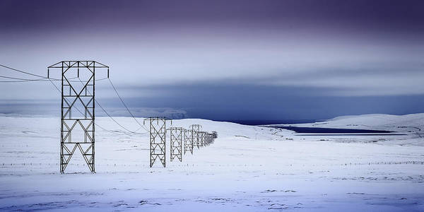 Photograph - Pylons, Iceland by Peter OReilly
