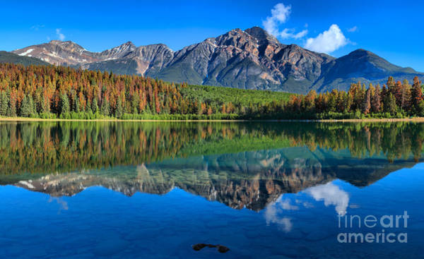 Photograph - Pyramid Mountain Morning Reflections by Adam Jewell