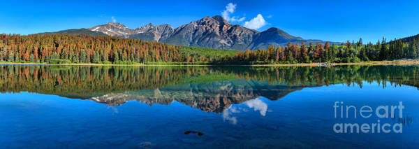 Photograph - Pyramid Mountain Reflection Large Panorama by Adam Jewell