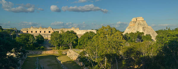 Mesoamerican Photograph - Pyramid Of The Magician, Mayan Ruin by Panoramic Images