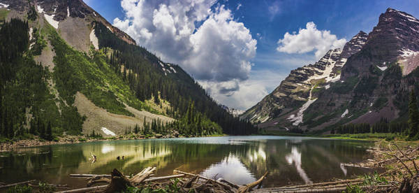Photograph - Pyramid Peak, Maroon Bells, And Crater Lake Panorama by Andy Konieczny
