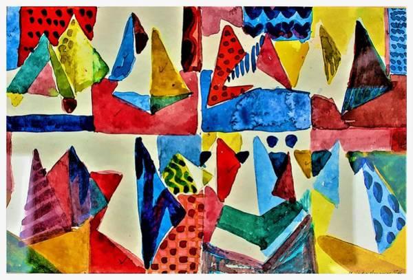 Wall Art - Digital Art - Pyramid Play by Mindy Newman