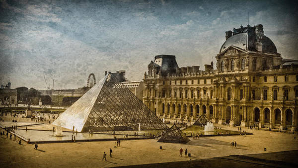 Photograph - Paris, France - Pyramide by Mark Forte