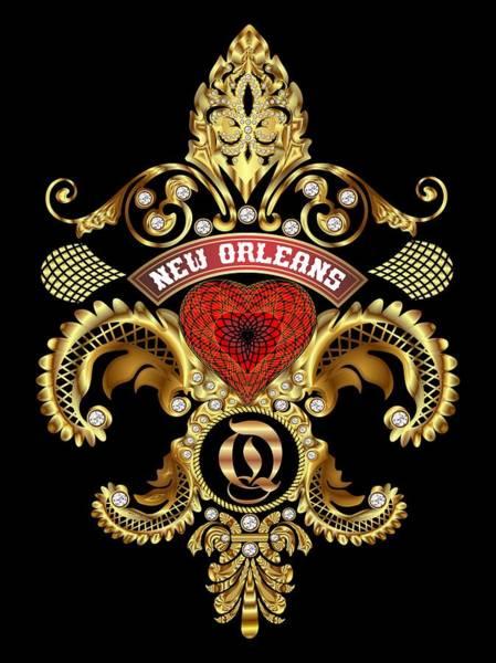Deja Vu Digital Art - Q-fleur-de-lis New Orleans Transparent Back Pick Color by Bill Campitelle