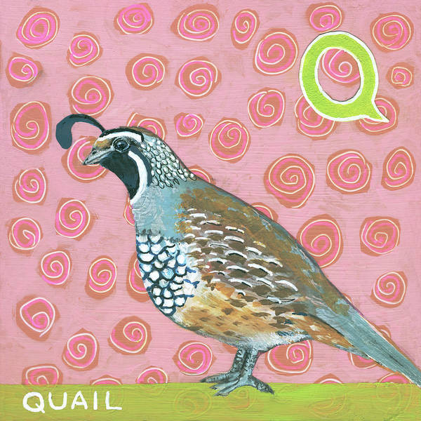 Wall Art - Painting - Q Is For Quail by Blenda Tyvoll