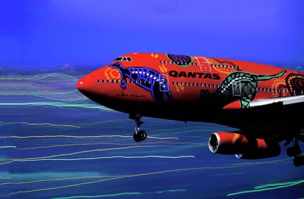 Lax Digital Art - Qantas Wunala Dreaming by Erik Simonsen