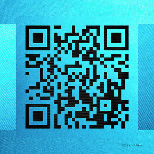Quick Digital Art - Qr Codes - Code Blue by Serge Averbukh