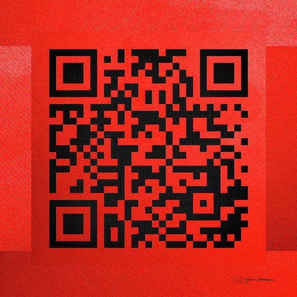 Quick Digital Art - Qr Codes - Code Red by Serge Averbukh