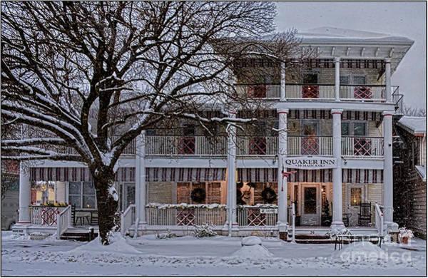 Grove Park Inn Photograph - Quaaker Inn At Ocean Grove In The Snow by Rich Despins