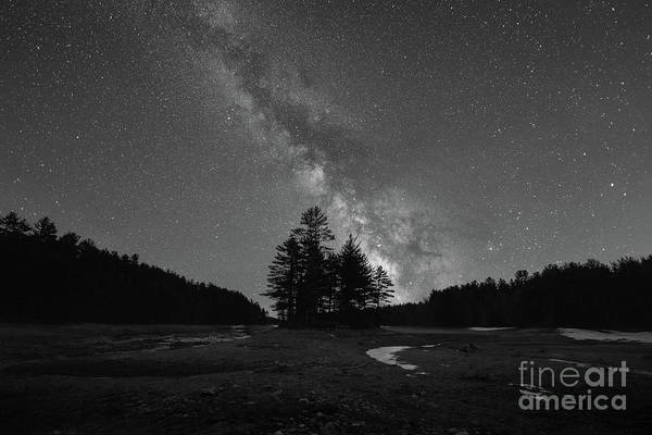 Photograph - Quabbin Reservoir Milky Way Bw by Michael Ver Sprill