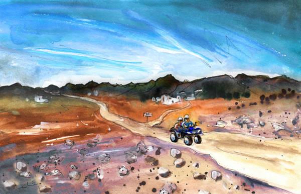 Wall Art - Painting - Quad Biking In Cabo De Gata by Miki De Goodaboom