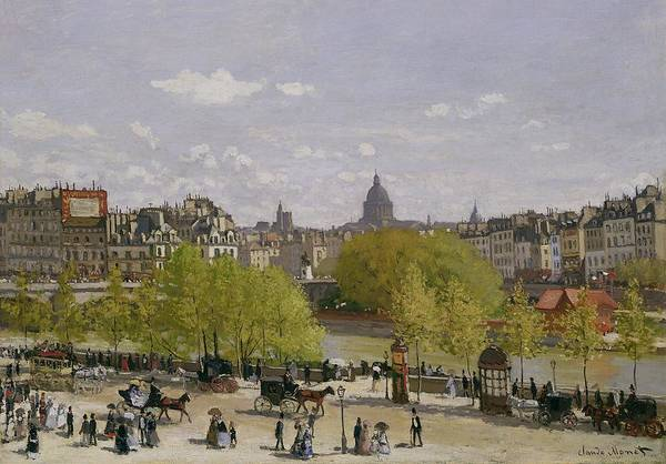 Dome Painting - Quai Du Louvre In Paris by Claude Monet
