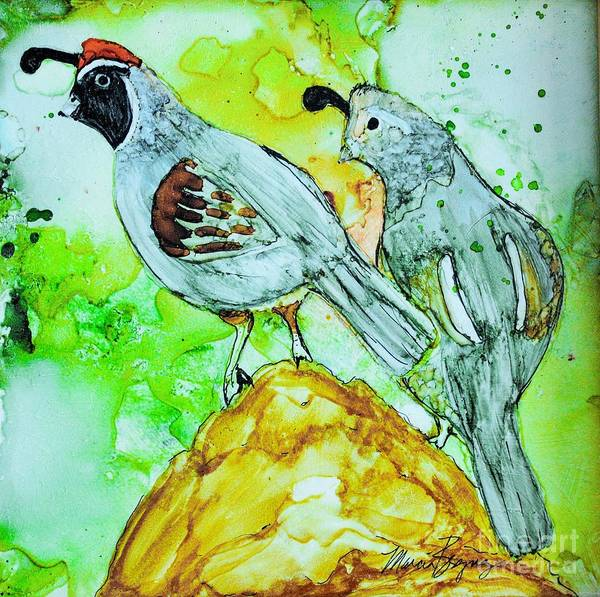 Painting - Quail Couple by Marcia Breznay