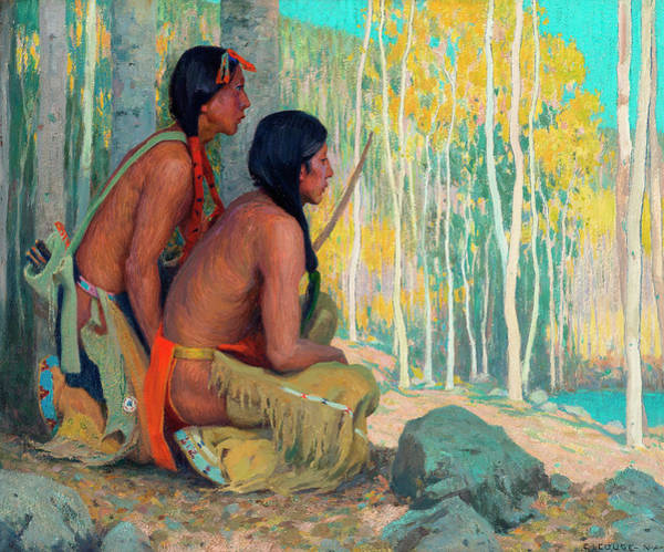 Pueblo Painting - Quail Hunters by Eanger Irving Couse