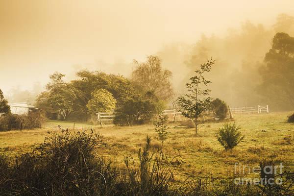 English Countryside Photograph - Quaint Countryside Scene Of Glen Huon by Jorgo Photography - Wall Art Gallery