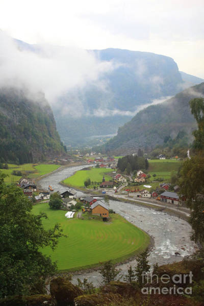 Photograph - Quaint Fjord Village In Norway - Flam by Carol Groenen