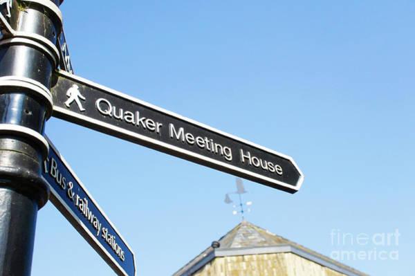 Quaker Meeting House Sign Art Print
