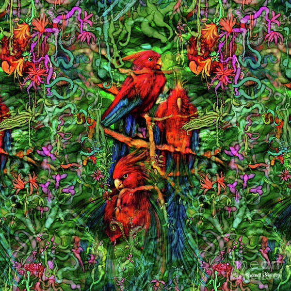 Digital Art - Qualia's Parrots by Russell Kightley