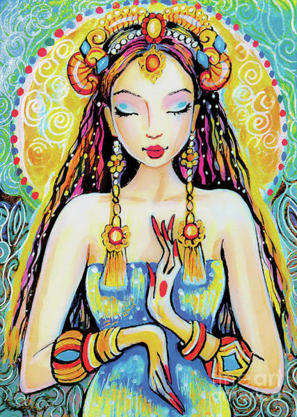 Painting - Quan Yin by Eva Campbell