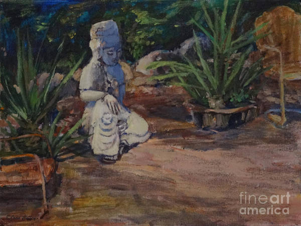 Painting - Quan Yin's Sitting Area by Joan Coffey