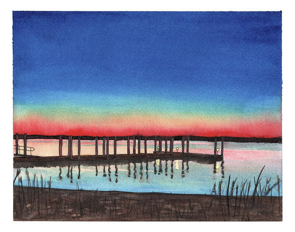 Painting - Quantico Marina by Betsy Hackett