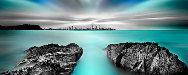 Beach City Photograph - Quantum Divide Panorama by Az Jackson