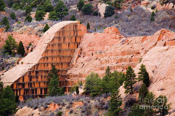 Quarry Closup At Red Rock Canyon Colorado Springs Art Print