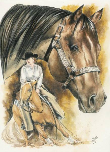 Mixed Media - Quarter Horse by Barbara Keith