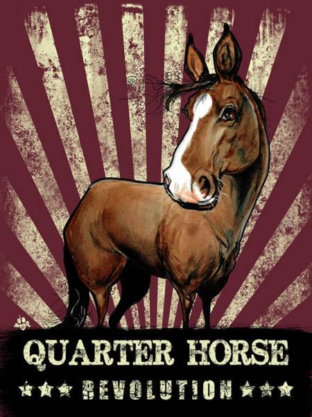 Drawing - Quarter Horse Revolution by John LaFree