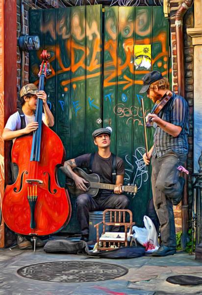 Jazz Trio Digital Art - Quarter Time Blues 2 - Paint by Steve Harrington