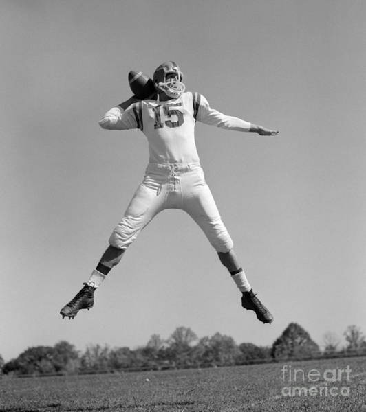 Photograph - Quarterback Throwing Pass, C.1960s by H. Armstrong Roberts/ClassicStock