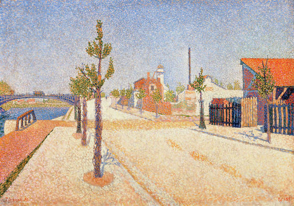 Full Bloom Painting - Quay At Clichy by Paul Signac