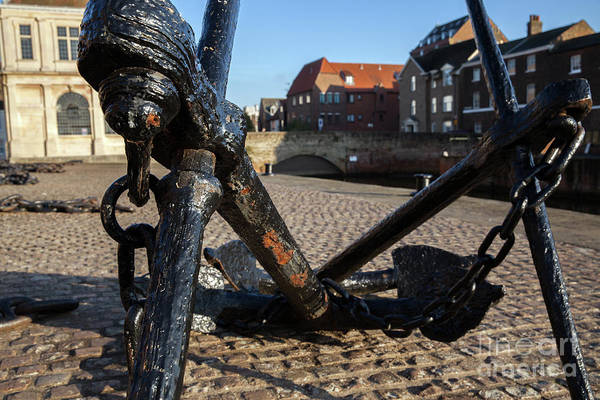 Kings Lynn Wall Art - Photograph - Quay Side Anchor And Chains In Norfolk by Simon Bratt Photography LRPS