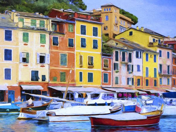 Painting - Quayside At Portofino by Dominic Piperata