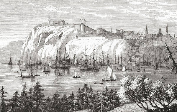 Quebec City Drawing - Quebec, Canada In The Late 19th by Vintage Design Pics