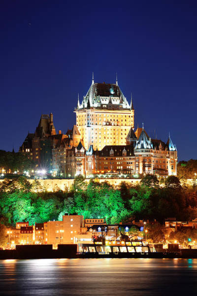 Photograph - Quebec City At Night by Songquan Deng