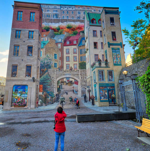 Photograph - Quebec City Mural by Farol Tomson