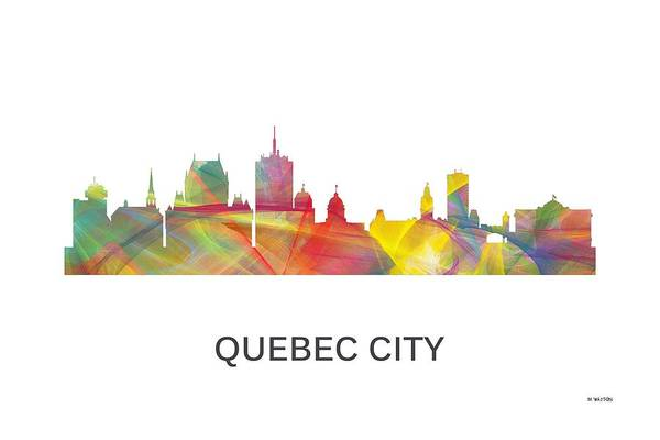 Quebec City Digital Art - Quebec City Que. Skyline by Marlene Watson