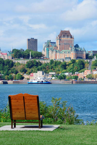 Photograph - Quebec City Skyline by Songquan Deng